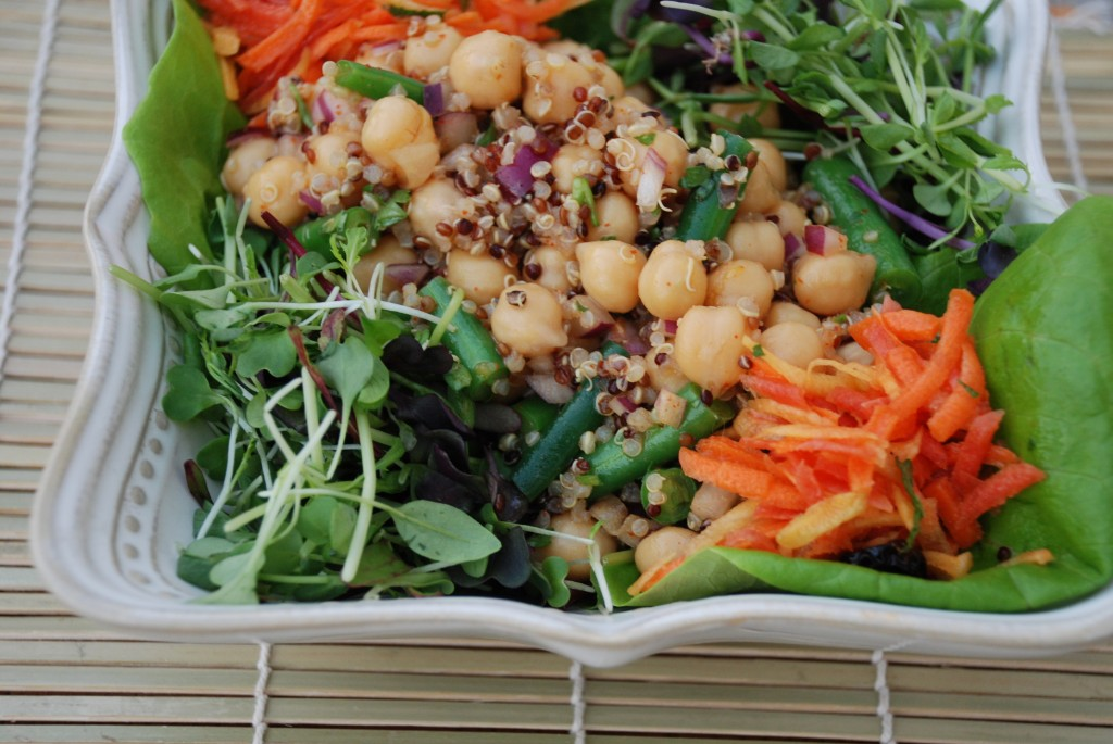 ... mix to the salad and served it up with our carrot and goldenberry slaw